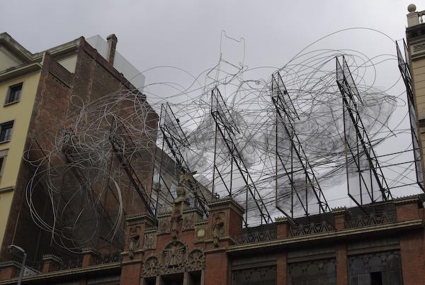 Metal sculpture atop Fundació Tàpies, Barcelona